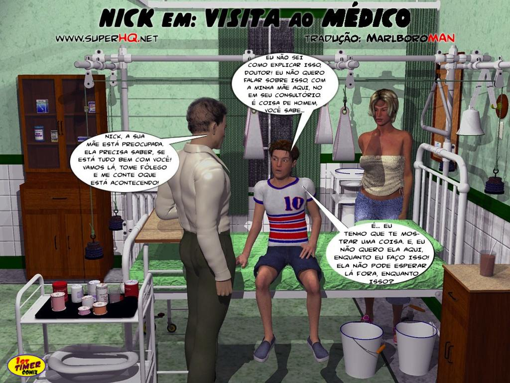 Nick visita medico porque seu pau está enorme