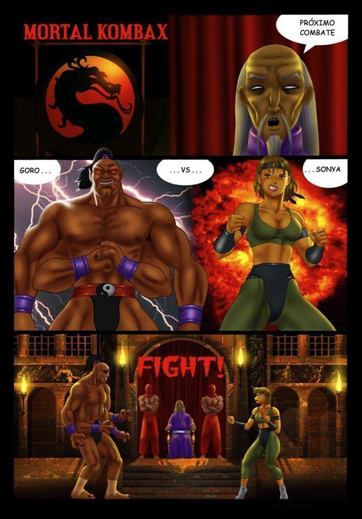Sonya vs Goro lutando muito sexualmente