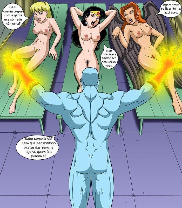 liga da justiça porno - sexo tesão e aventura