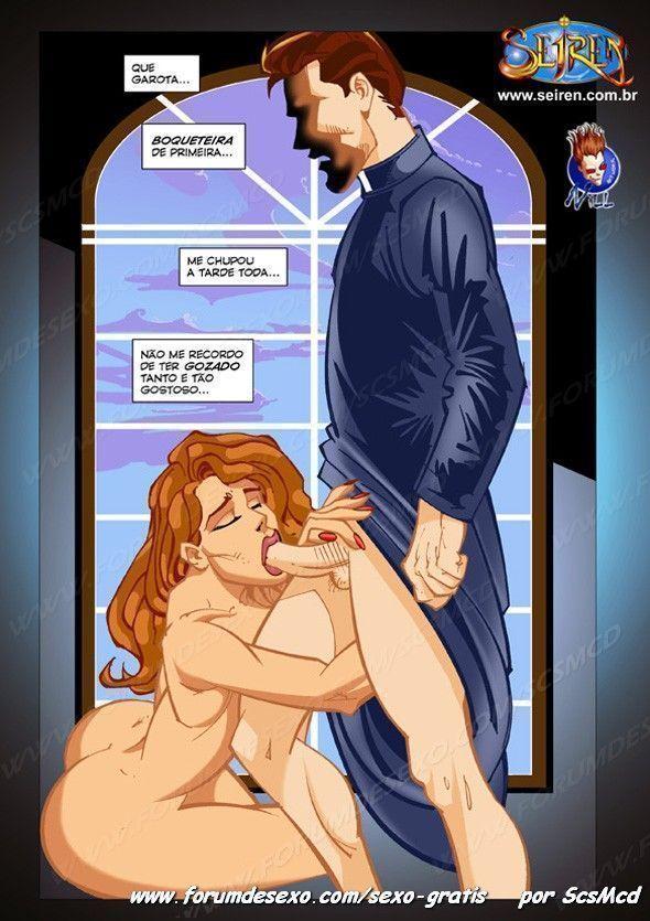 O padre e a moça - quadrinhos eroticos