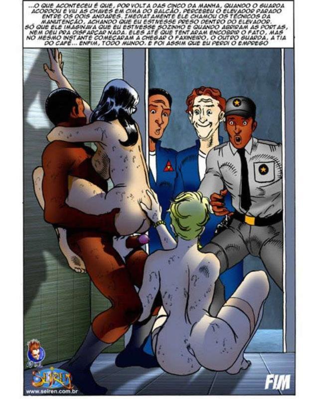 o elevador - quadrinhos porno